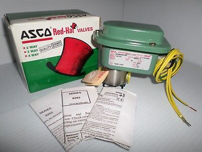 "*NEW IN BOX*  ASCO WPHB8262A152E 2-Way  SOLENOID VALVE 1/4"" 120Vac"
