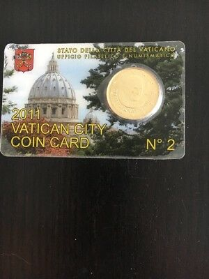 Vatican City Coin Card 2011 No 2