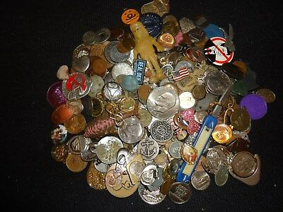Pile O' Stuff - Coins, Ike,kennedys,  Tokens, Jewelry,   And Assorted Stuff # 2