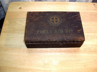 Antique Mine Safety Appliance Co. First Aid Kit With 9 Boxes Directions Type D