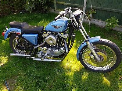 Harley Davidson 1979 1000cc Ironhead  Project chop bobber No reserve