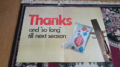 Vintage Dairy Queen Antique Advertising 1969 Sign posterboard