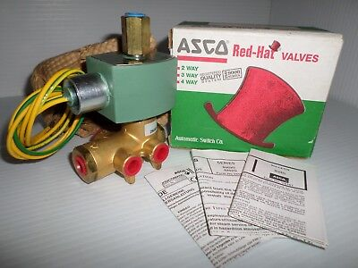 "*NEW IN BOX*  ASCO HT8345G1 4-Way SOLENOID VALVE 1/4"" 120Vac"