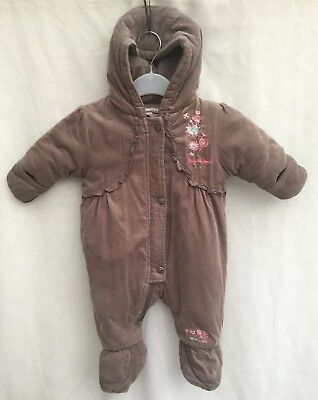 5b88404c74a7c ORCHESTRA BABY GIRLS Brown Cord All In One Pram Suit Coat - Age 0-3 ...