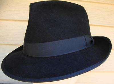 Vintage Bee Fedora Style Hat 1950's Early 1960's? Size 7 3-8