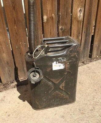 Vintage Us Military Gas Can!!  With Cap And Spout!!
