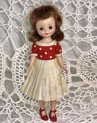 VINTAGE 1st Year Betsy McCall Doll+ORIG1958 Red Dress & Shoes