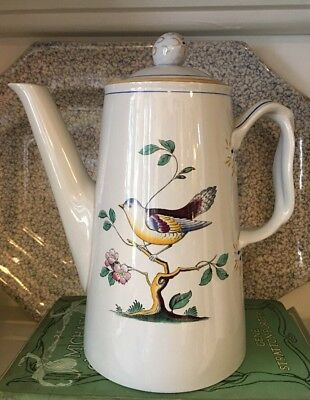 Spode Queens Bird Coffee Pot with Lid, Full Size, 9 inches