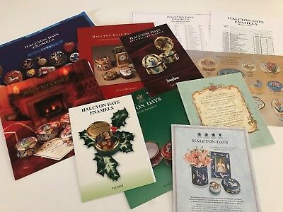 A Selection of Halcyon Days England Catalogs, Brochures & Price Lists