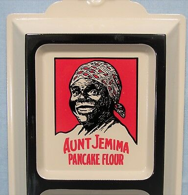 Aunt Jemima Pancake Flour ~ Embossed Tin Picture Wall Thermometer