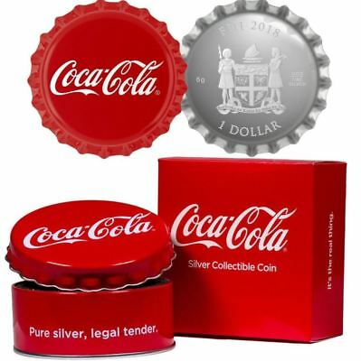 Limited Edition Coca Cola Bottle Cap – 2018 6 Gram $1 Pure Silver .999 Coin