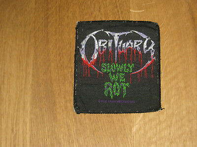 Patch Aufnäher Kutte - Obituary - slowly we rot - Death Metal