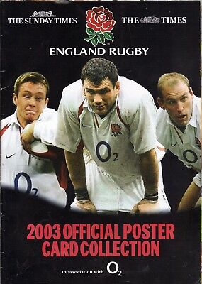 England Rugby World Cup 2003 Official Poster Card Collection, New/sealed