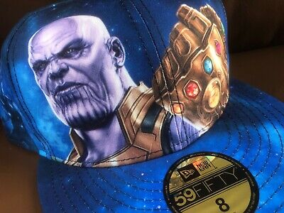ca24b005b2d MARVEL x NEW ERA Avengers Infinity War Thanos 59FIFTY Fitted Cap sz 8    rare hat