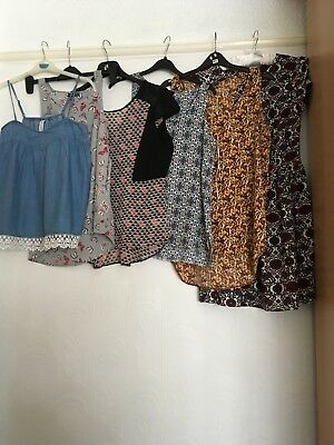 Bundle Of Ladies Summer Tops, Sand a dress, size 12