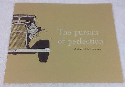 The Pursuit Of Perfection Car Sales Brochure A History Of Fine Motocars Lincoln