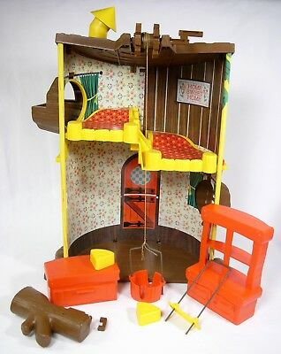 Vintage Rare 1967 Remco Elly & Andy Baby Mouse Twins 3 Story Tree House VGUC js
