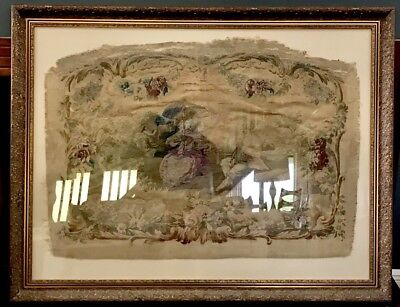 Victorian ANTIQUE FRENCH Renaissance TAPESTRY NeedlePoint Textile Wall Aubusson