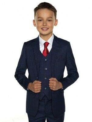 New Paisley of London Toddler Boys NAVY 5pc suit size 3 years