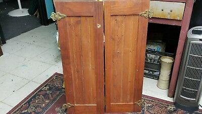 Vintage Bead Board Cabinet Doors with Hinges