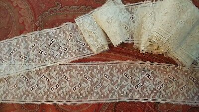 ANTIQUE VINTAGE LACE 3 1/2 inches wide by over 9 yards long