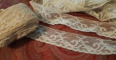 ANTIQUE VINTAGE LACE  2 inches wide by 10+ yards