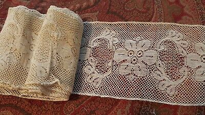 ANTIQUE VINTAGE LACE 3 inches wide by 82 inches long
