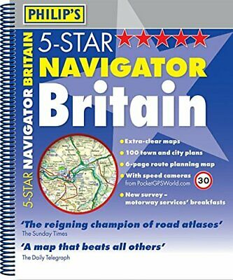 Philip's 5-Star Navigator Britain: Spiral Spiral bound Book The Cheap Fast Free