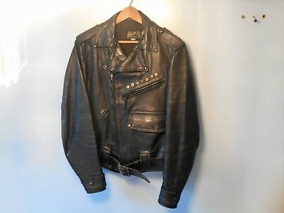 Vintage 1950's-1960's Buco Horsehide Leather Size 38 Motorcycle Jacket