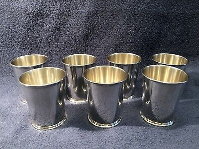S. KIRK &  SON 277  .925 Sterling Set Of 7 Julep Mint Condition 118g Mid Century