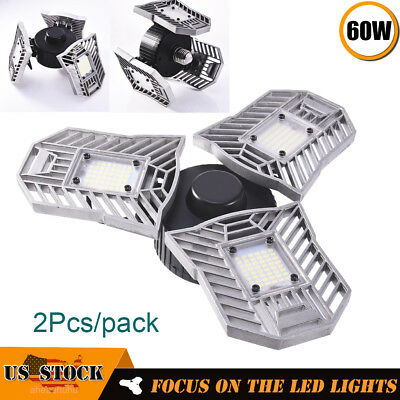 2 x E27 Changeable High Bay UFO LED Light 60W Graden Outdoor Warehouse Work Lamp
