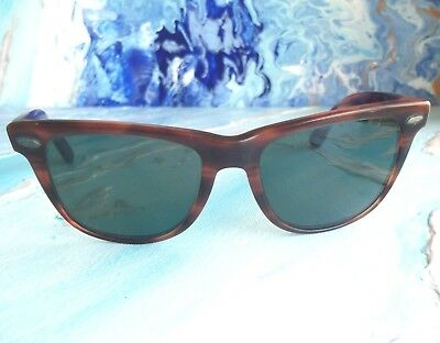 Vintage Ray Ban Wayfarer II Tortoise L1725 Sunglasses 80s Iconic Cool Blues Bros