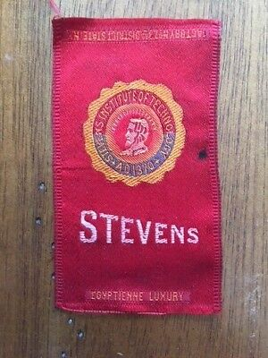1910s S25 College Seals Egyptienne Cigarettes silk tobacco STEVENS