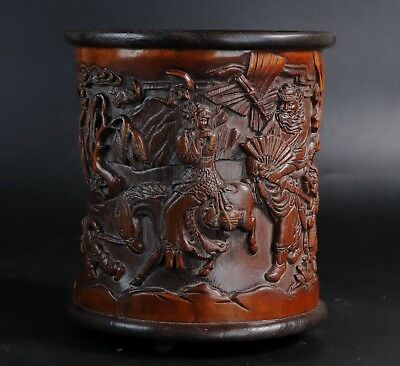 Chinese bamboo Carved bamboo Brush Pot height 16.8cm