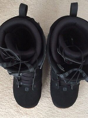 Mens as new Salomon Dialogue snowboard boots US size 10 for all terrain/ability