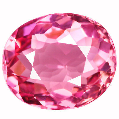 3.23Ct IF Lovely Oval Cut 11 x 9 mm Natural AAA Pink Tourmaline