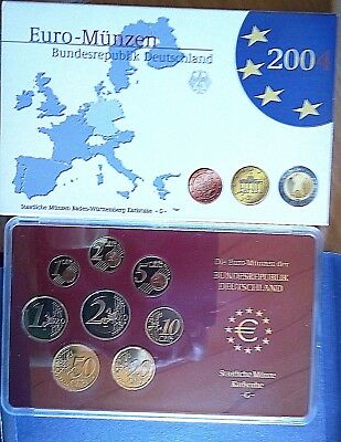 Proof Euro Coins Set Germany Mint-Karlsruhe (G 2005)