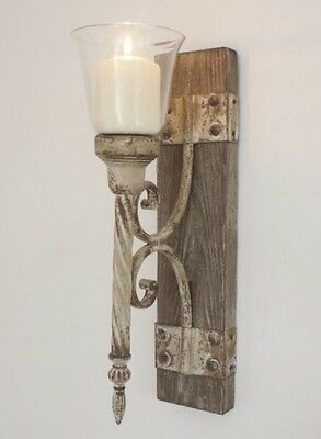 New Shabby Chic French Wall Sconce Candle Holder Vintage Antique Style