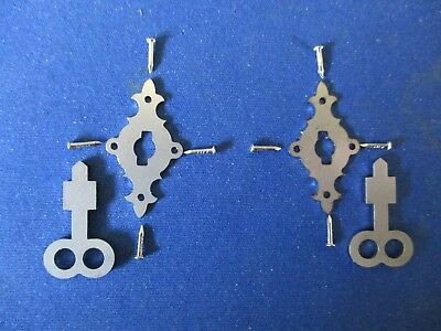 2 x L M ERICSSON Wall Telephone Escutcheon Key & Pin Sets. Stainless Steel NEW