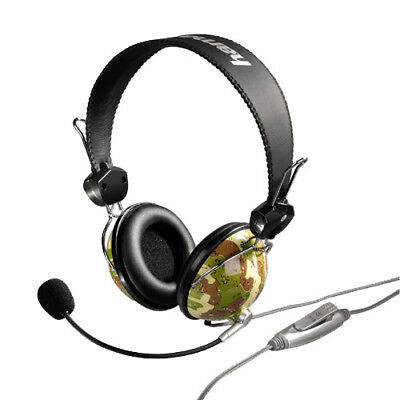 10x Hama PC-Headset HS-10 Camouflage im Army-Style Stereo für Gaming VoiP Skype