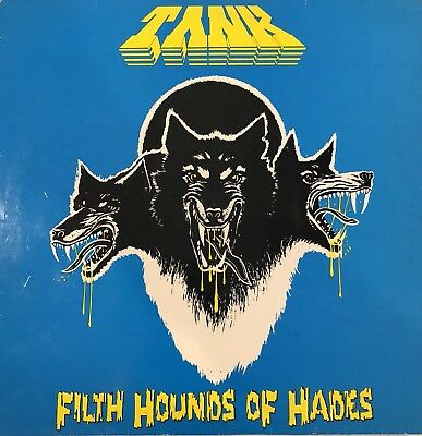"Tank  ‎– Filth Hounds Of Hades - DJM Records 656.026 1982 Blue Cover 12"" Vinyl"