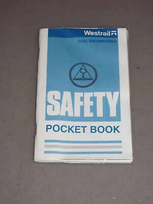 Westrail Civil Engineering Safety Pocket Book 1989 - Railway - Collectable