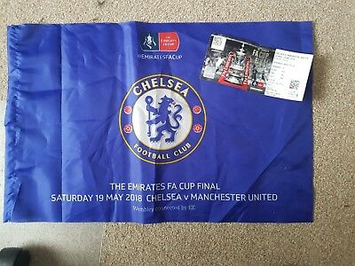 fa cup final 2018 ticket and Chelsea flag