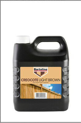 4L Creocote Oil Based Timber Treatment Light Brown 4 Litre Bartoline 82304570