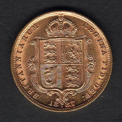 Australia. 1887 Sydney - Half Sovereign.. Jubilee Head.. Much Lustre   EF/gEF...