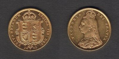 Australia.  1893 Melbourne  Half Sovereign - Jubilee Head..   Much Lustre..  gEF
