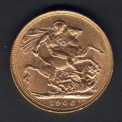 Australia.  1906 Melbourne - Sovereign.. Full Lustre..  UNC