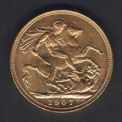 Australia.  1907 Sydney - Sovereign.. Full Lustre..  UNC