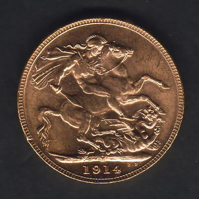 Australia.  1914 Melbourne - Sovereign.. Full Lustre..  UNC/BU