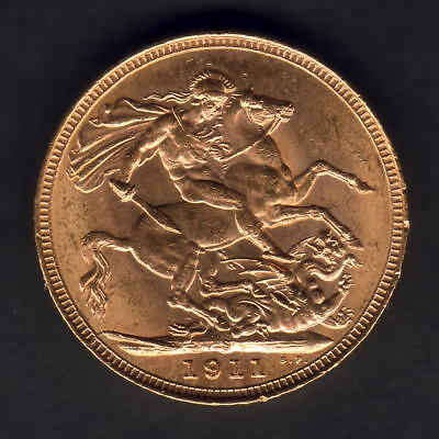 Australia.  1911 Sydney - Sovereign.. Full Lustre..  UNC..